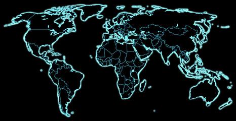 Welt in Dunkel