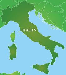 Italien - Karte in Grün
