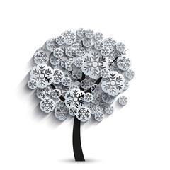 vector modern snowflakes tree
