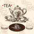 Hand draw tea