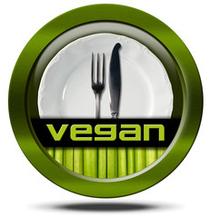 Vegan Restaurant - Green Icon