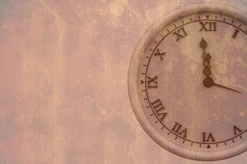 Composite image of clock counting to midnight