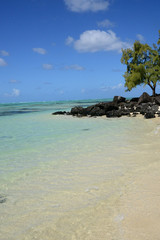 Mauritius, picturesque Ile aux cerfs in Mahebourg area