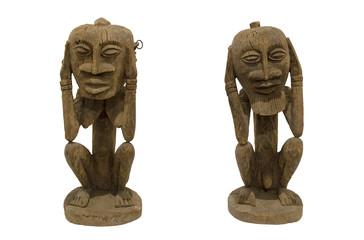 Couple of Adambulu's ancestors (Tellem ethnic group from Mali)