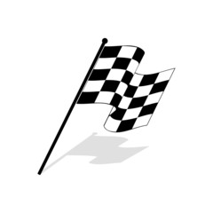 Racing design over white background.