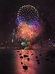 Sydney Firework Vertical Balls
