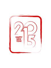 Vector design element of happy new year 2015.