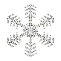 雪の結晶と宝石