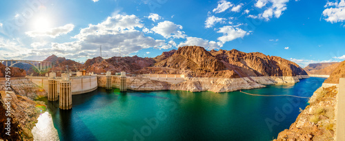 In de dag Dam Panorame Hoover Dam