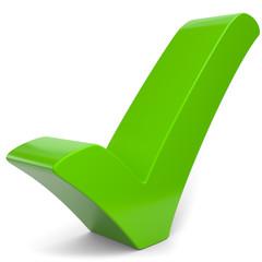 grüner 3d Haken