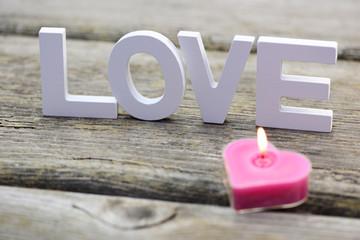 Kerze Love