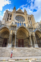 La cathédrale Notre de Dame de Chartres ,en France