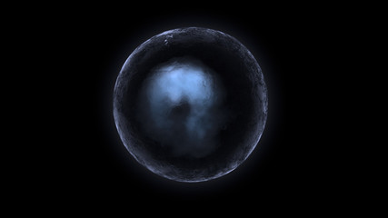 cold sphere in space