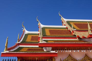 Art of thai temple roof.