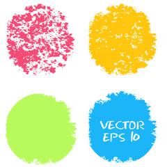 Set of hand color circles.