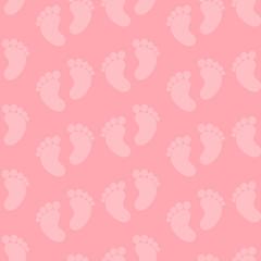 Seamless Baby Feet Pattern