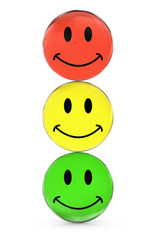 Traffic Lights Of Happy Faces
