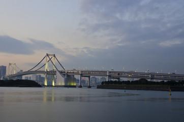 Odaiba Bridge in sunset