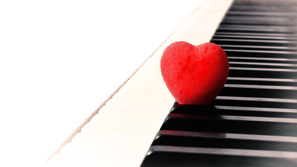 heart and piano