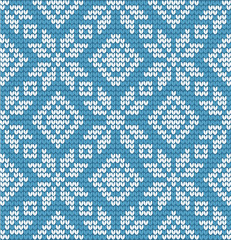 Nordic sweater pattern vector