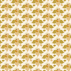 beige floral seamless background