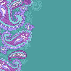 paisley background and place for your text