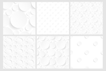 set of six seamless white backgrounds