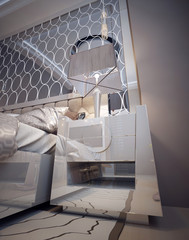 Nightstands and bedside tables in a luxurious modern style