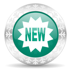 new green icon, christmas button