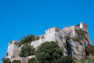 Ruin fortress castle Salerno city, Italy