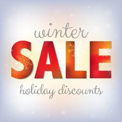 Winter Xmas Sale Poster
