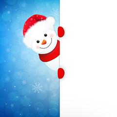 Xmas Snowman Banner