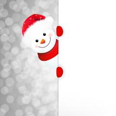 Xmas Snowman Poster