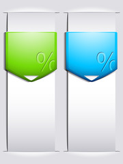 Percentage banners