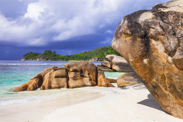 tropical wilderness - beaches of Seychelles islands