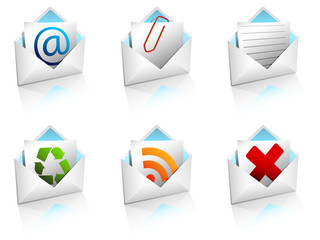 Mail icons open