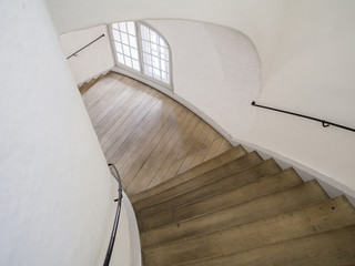 Stairs in old round tower