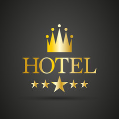 Hotel sign with crown and stars