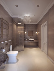 Bathroom in the neoclassical style
