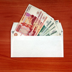 Envelope with a Russian Money