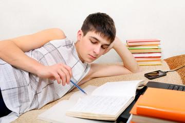 Teenager preparing for Exam