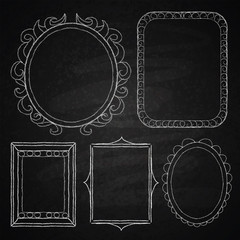 Hand drawn frames.