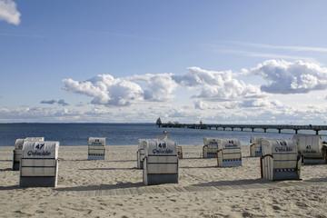 Strandstimmung im Ostseebad Grömitz, Deutschland