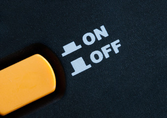 On Off button switch