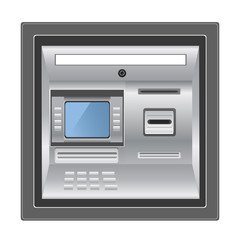 ATM isolated on white photo-realistic