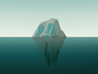 Leinwanddruck Bild - 3d Rendered Iceberg In Water