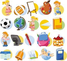 Мультфильм школьный иконки