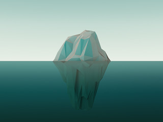 3d Rendered Iceberg In Water