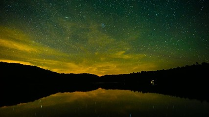 Stars Reflecting on Calm Water