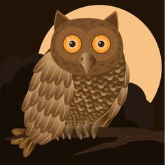 Owl in brown